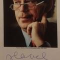 Václav Havel (1936-2011) aláírása