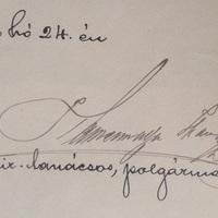 Kamermayer Károly (1829-1897) aláírása