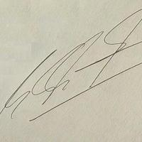 Michael Schumacher autogramja