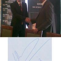 Magyarországon a sakkvilágbajnok (Viswanathan Anand autogramja)