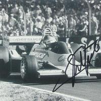 Emerson Fittipaldi autogramja (Forma-1 világbajnokok sorozat)
