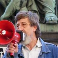 Balog Gyula beszéde a BM előtti tüntetésen