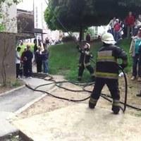 Lángok csaptak fel a Szentgyörgy úton