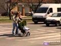 Zebrán gázolt gyerekeket az autós