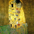 Gustav Klimt-Csók