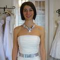 Esküvői nyakék Katinak, aki karcsú, mint a nádszál