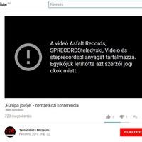 A Youtube letiltotta Schmidt Mária konferenciájának közvetítését