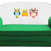 Kihajtható szivacs kanapé gyerekeknek 3 bagollyal