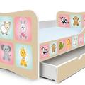 Állatkák PLUSZ gyerekágy ágyneműtárolóval