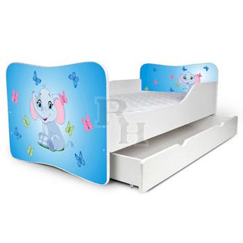 elefánt lepkékkel kék 2 Noby  lányos gyerekágy,kiságy.jpg