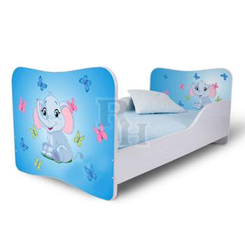 elefánt lepkékkel kék Noby  lányos gyerekágy,kiságy.jpg