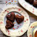 Meggyes-mákos szívek/Cherry-poppy seed hearts #cherry #poppyseed #heart #madeleine #dessert #yummy #pastrychef #bakemyday #bakerylife #bakeyoursmile #foodphotography #instafood #foodporn #gastronomy #dessertporn #mutimitsütsz #mutimiteszel #mik #mik_gasztro