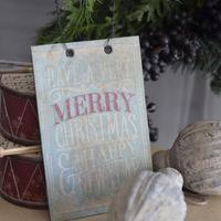 Fa hatású karácsonyi táblácskák ...