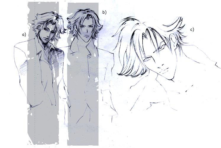 Sketch up manga style: Beau de Noir