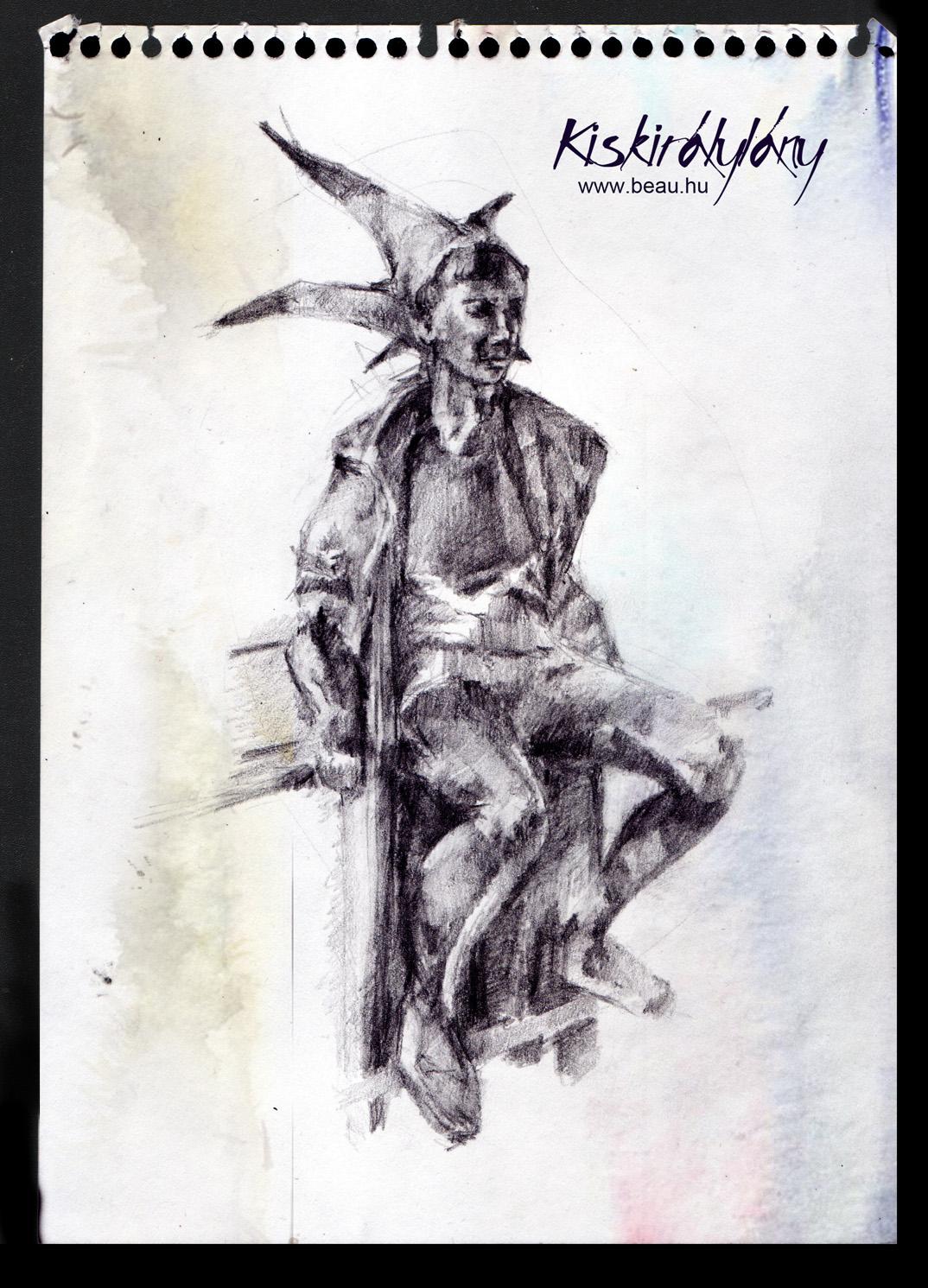Kiskirálylány szobor: Beau de Noir