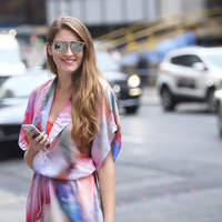 New York Fashion Week - Colorful Dress