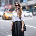 New York Fashion Week - Leather Midi
