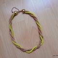 Arany-sárga nyaklánc - ebay