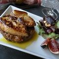 Roston sült libamáj, rozés-aszalt szilvás rizottóval