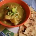 Kókusztejes-édeskrumplis csirke curry