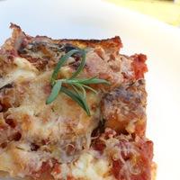 Padlizsános-ricottás lasagne