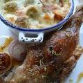 Mézes-kakukkfüves libacomb, kecskesajtos-sütőtökös-kelbimbós körettel
