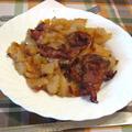 Tepsis krumpli sütőtökkel, hússal