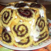 Gyümölcsös Charlotte torta
