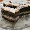 Mákos (diós) süti túróval