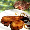 Rántott tengeri hal, majonézes paradicsom