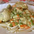 Zöldséges (becsinált) csirkecomb