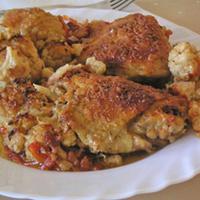 Csirkecomb karfiollal