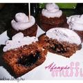 Áfonyás csokis muffin