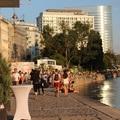 Bulihelyek a Duna-csatorna partján Bécsben