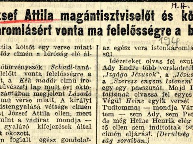 A megtűrt József Attila