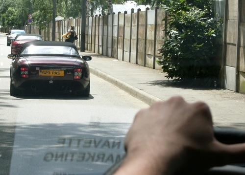 TVR Griffith V8 a verseny indulása előtti percekben