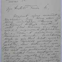 gróf Teleki Pál levele Fodor Ferenchez 1916