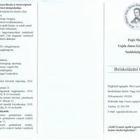 Beiskolázási tájékoztató: Vajda János Gimnázium és Szakközépiskola
