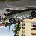 Felborult autó a benti óvodánál - Személyi sérülés nem történt!