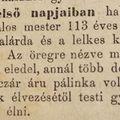 Meghalt 113 évesen Sukh János asztalosmester