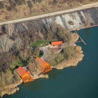 Légi fotók az Erőmű-tóról - Kettő azaz 2  dácsa...