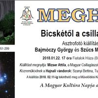 Bajmóczy Gyuri és Szűcs Matyi asztrofotó kiállítása a Magyar Kultúra Napján