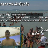 A tizenhárom éves Nagy Dominik a Velencei tavat és a Balatont úszta át