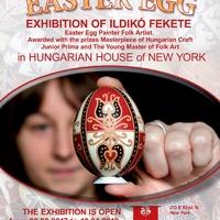 New York Cityben állítja ki 800 darab művét az alcsútdobozi hímes tojás-festő!