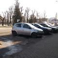 Egy  úgynevezett parkoló állapotja Bicske főterén