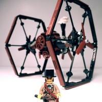 Lego steampunk TIE Fighter