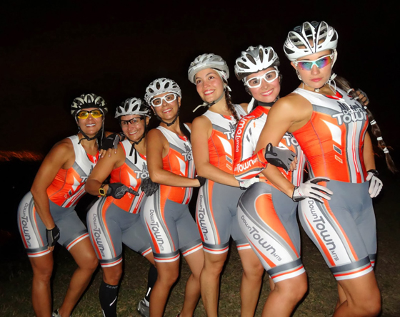 A legszebb bringás csajok csapata