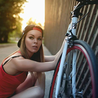 A lány és a bicikli