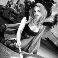 Marian Rousse: bájos bringás az Alpe d'Huez emelkedőjén