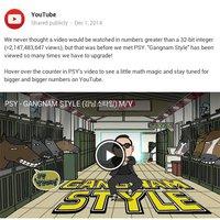 A Gangnam Style-t olyan sokszor nézték meg, hogy az valóban kettétörte a YouTube-ot